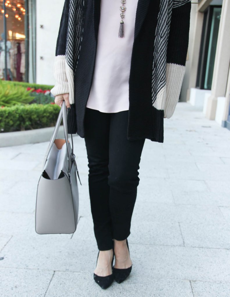 Winter Outfit | Black Skinny Jeans | Black Heels | Houston Fashion Blogger Lady in Violet