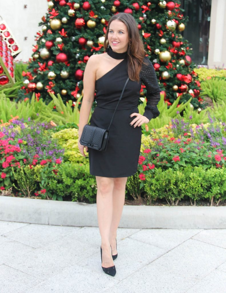 Holiday Party Outfit   Little Black Dress   Black Crossbody Purse   Houston Fashion Blogger Lady in Violet