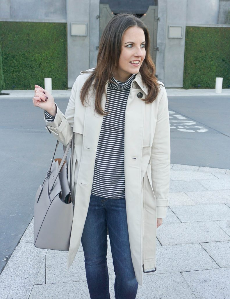 Winter Outfit | Classic Trench Coat | Tory Burch Bag | Houston Fashion Blogger Lady in Violet