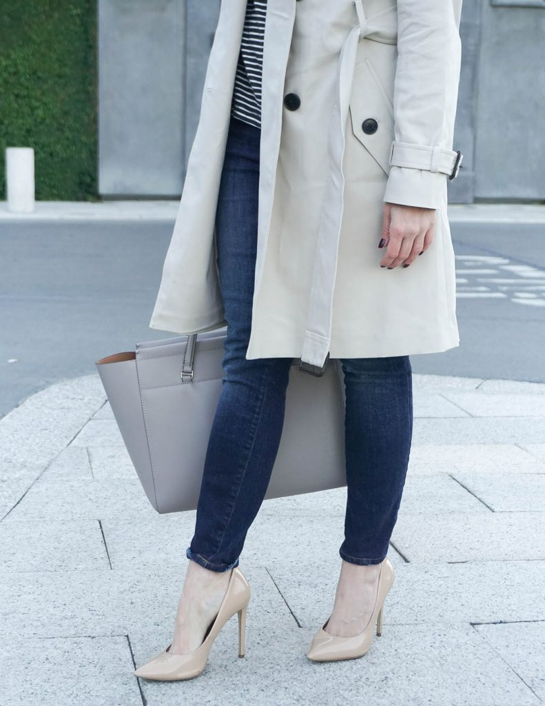 How to Wear a Trench Coat with Jeans | Houston Fashion Blogger Lady in Violet