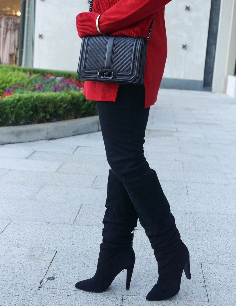 Winter Fashion | Black Suede Boots | Black Skinny Jeans | Houston Fashion Blogger Lady in Violet