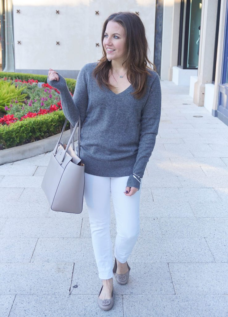 Fall Outfit | Cashmere Sweater | Skinny Jeans | Houston Fashion Blogger Lady in Violet