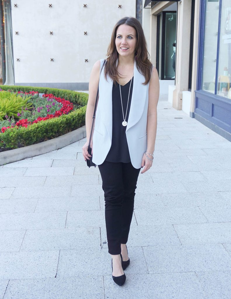 How to Wear a Blazer Vest with Jeans | Houston Fashion Blogger Lady in Violet