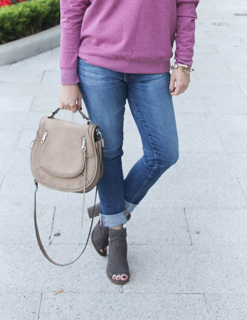 Fall Outfit | Skinny Jeans | Peep Toe Booties | Houston Fashion Blogger Lady in Violet