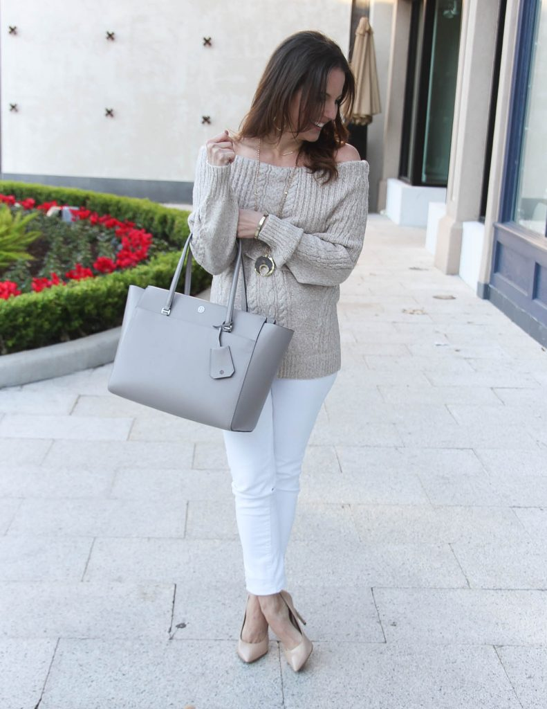 Meet the Parents Outfit | Off the Shoulder Sweater | Winter Fashion | Houston Style Blogger Lady in Violet