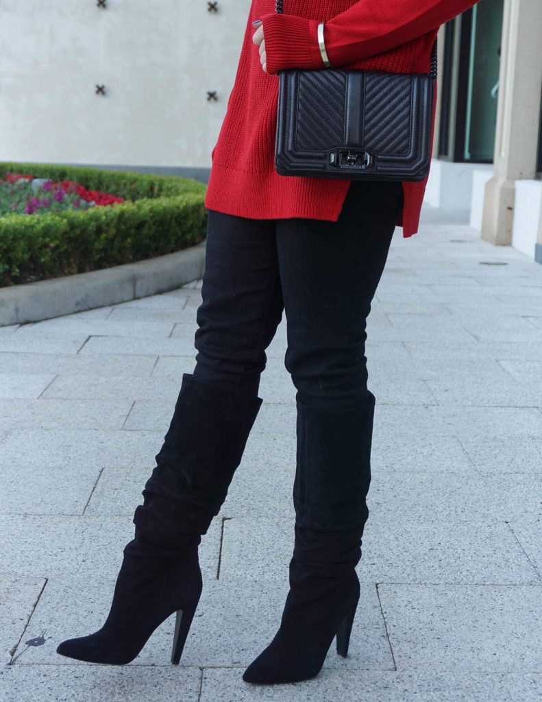 Winter Fashion | Black Slouchy Boots | Skinny Jeans | Houston Fashion Blogger Lady in Violet