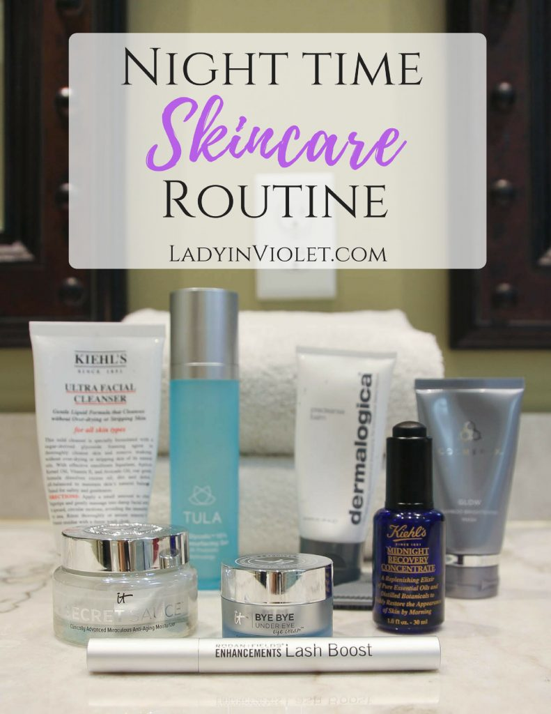 Nighttime Skincare Routine for your 30s | Houston Fashion Blogger Lady in Violet