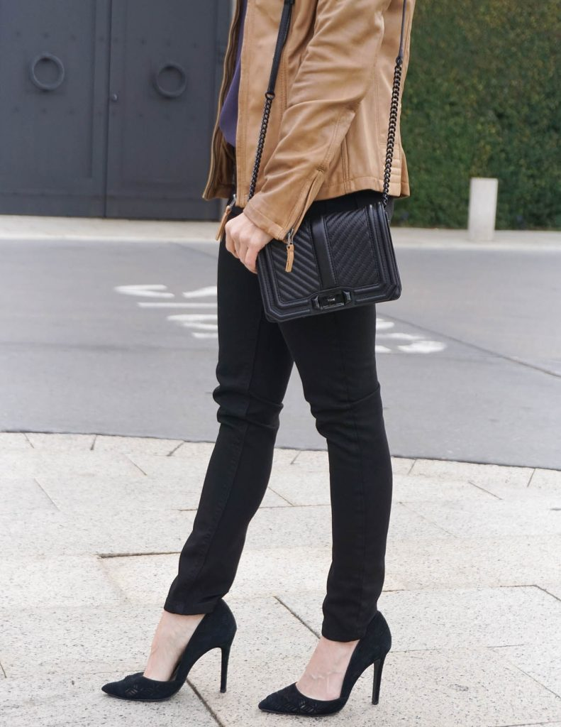 Date Night Outfit | Black Skinny Jeans | Rebecca Minkoff Love Bag | Houston Fashion Blogger Lady in Violet