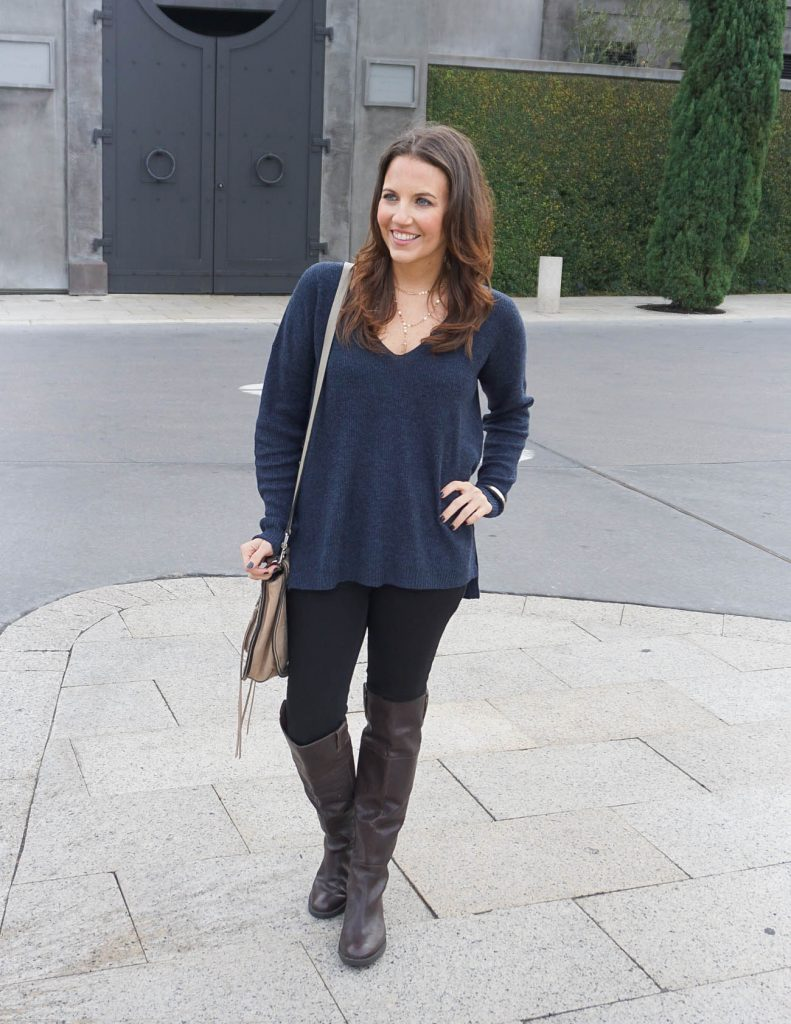 Casual Outfit | Navy Sweater | Black Skinny Jeans | Houston Fashion Blogger Lady in Violet
