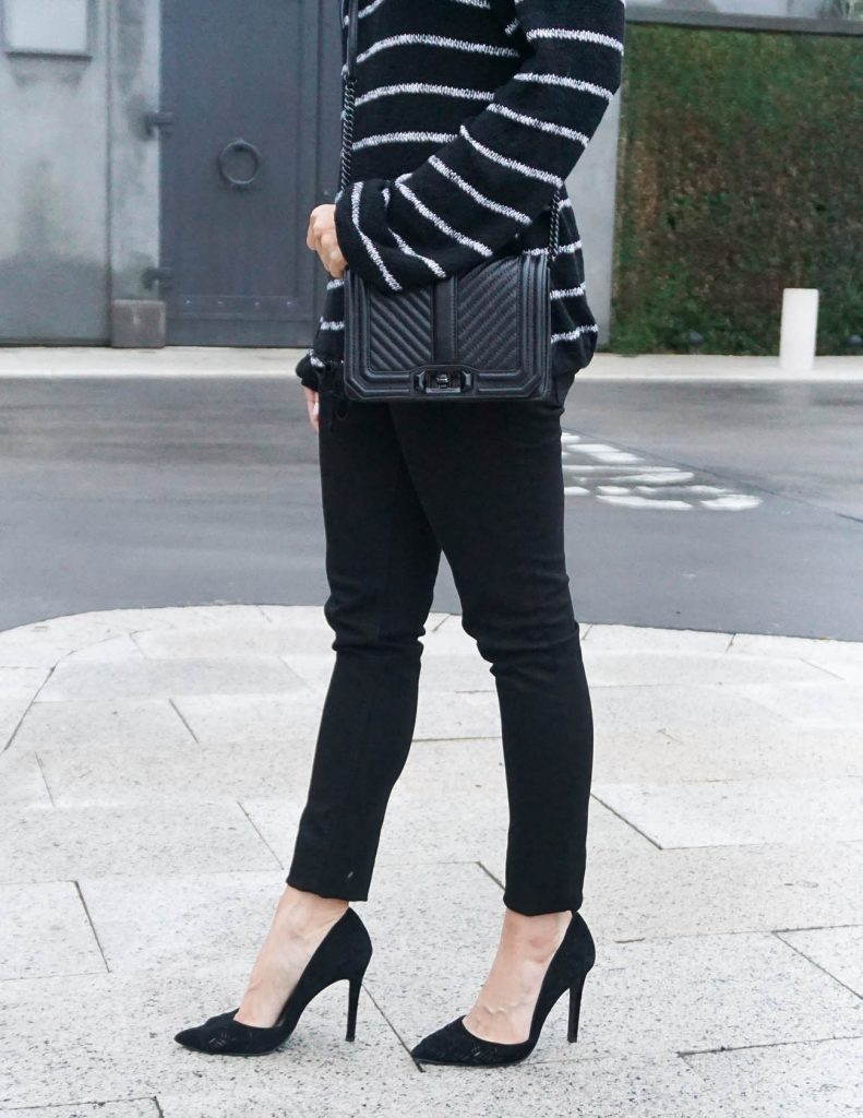 Fall Outfit | Black Skinny Jeans | Black Crossbody Bag | Houston Fashion Blogger Lady in Violet