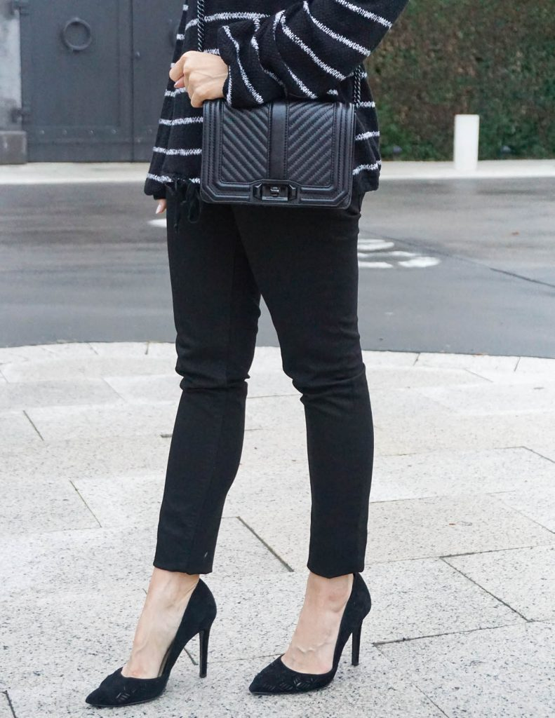 Dressy Casual Outfit | Black Heels | Rebecca Minkoff Love Bag | Houston Fashion Blogger Lady in Violet