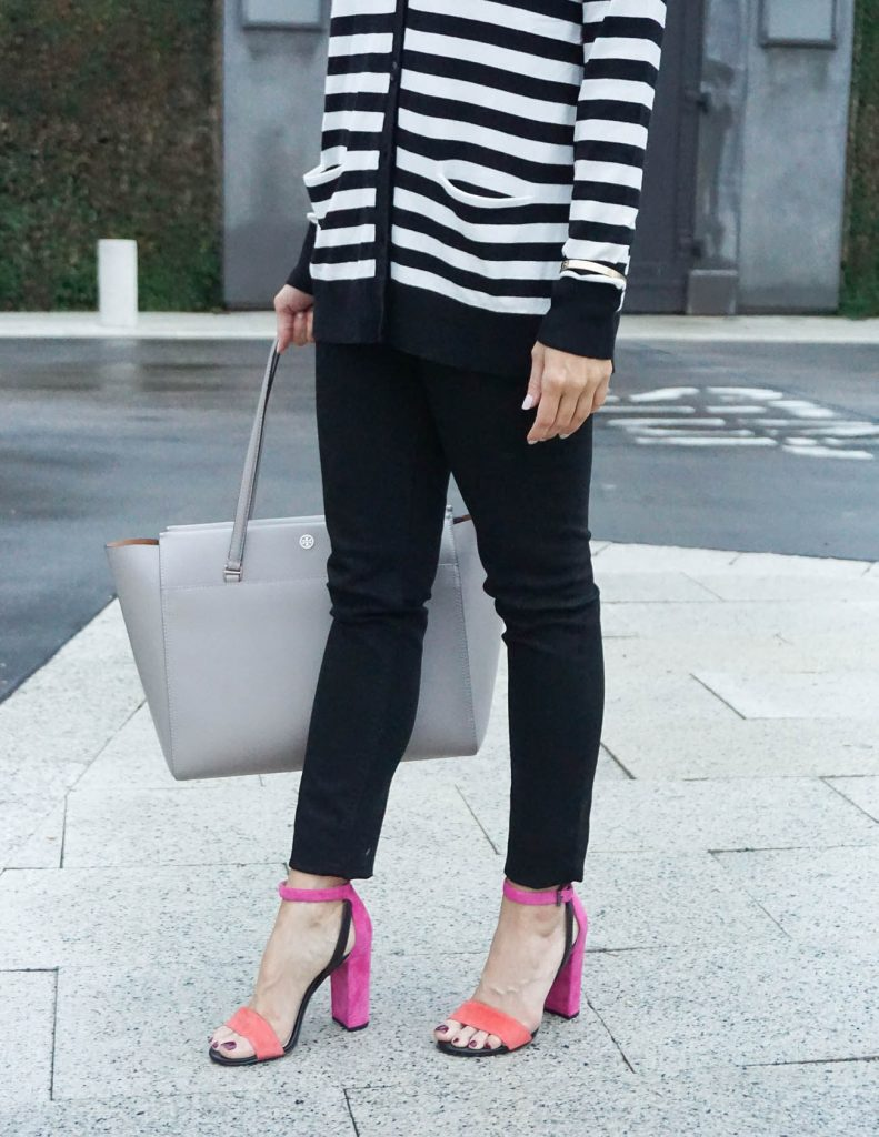 Spring Outfit | Block Heel Sandals | Black Skinny Jeans | Houston Fashion Blogger Lady in Violet