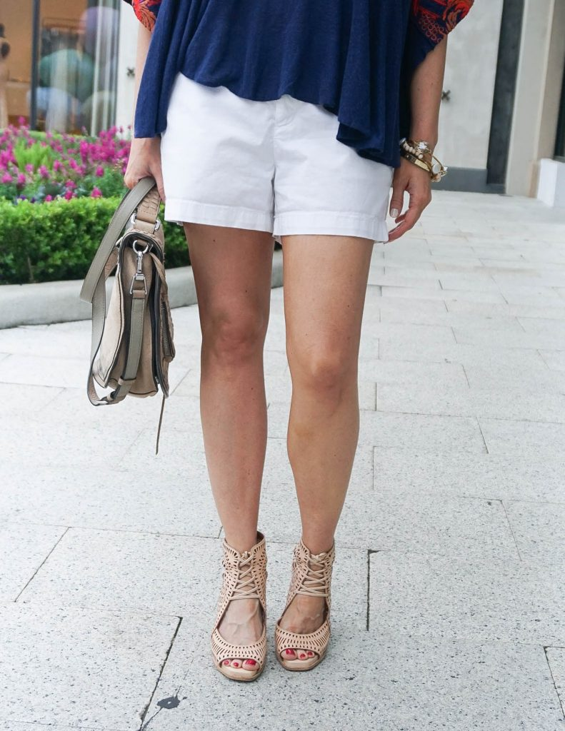 Spring Outfit | White Shorts | Jeffrey Campbell Wedges | Houston Fashion Blogger Lady in Violet