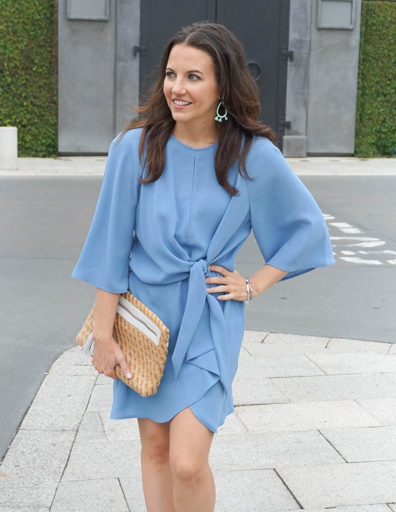 Spring Outfit | Easter Dress | Mint Earrings | Houston Fashion Blogger Lady in Violet