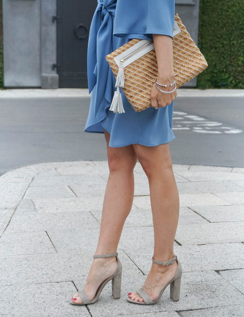 Spring Fashion | Steve Madden Block Heel Sandals | Elaine Turner clutch | Houston Fashion Blogger Lady in Violet
