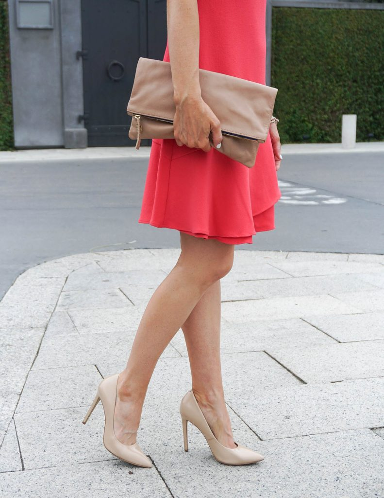 Spring Outfit | Nude Heels | Pink Dress | Houston Fashion Blogger Lady in Violet