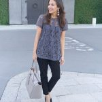 Workwear: Gray Lace Blouse