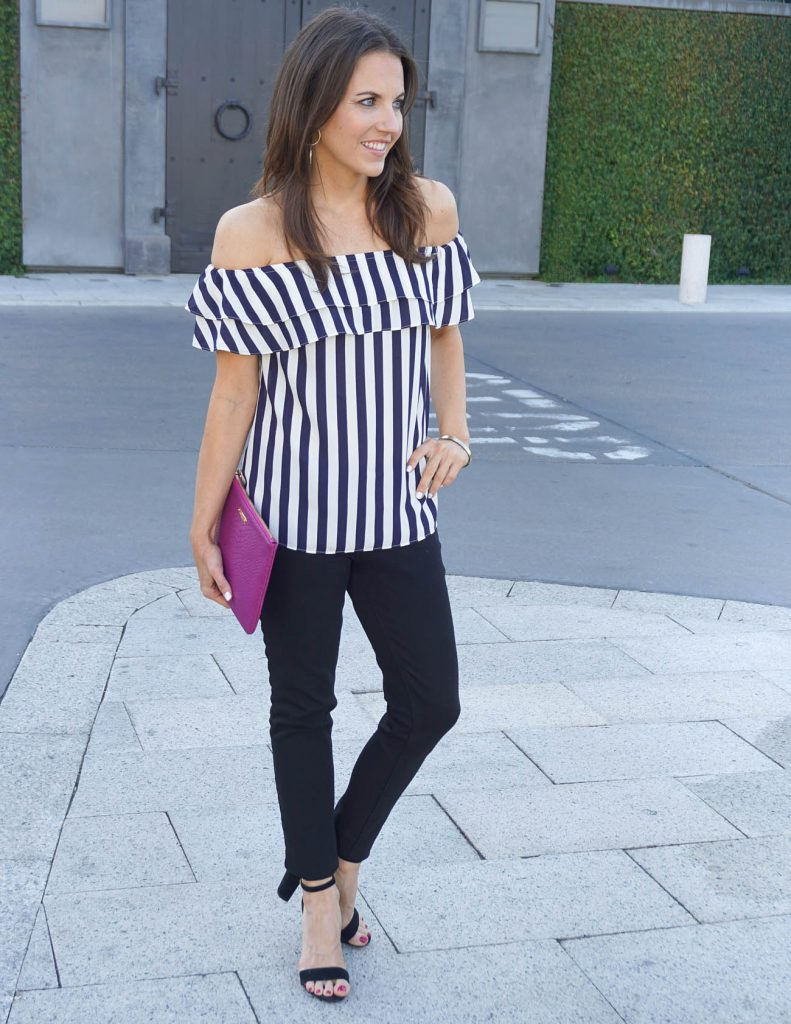 Summer Outfit | Off the Shoulder Top | Black Jeans | Houston Fashion Blogger Lady in Violet