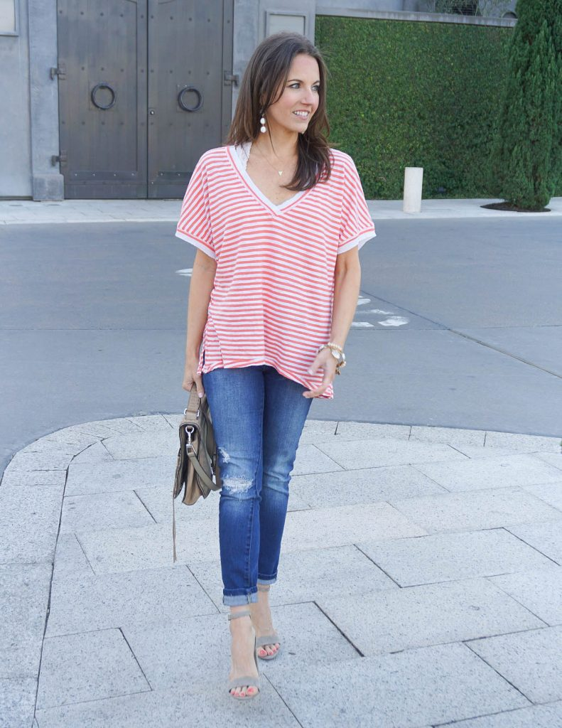 How to Dress up an Oversized Tee for Summer | Houston Fashion Blogger Lady in Violet