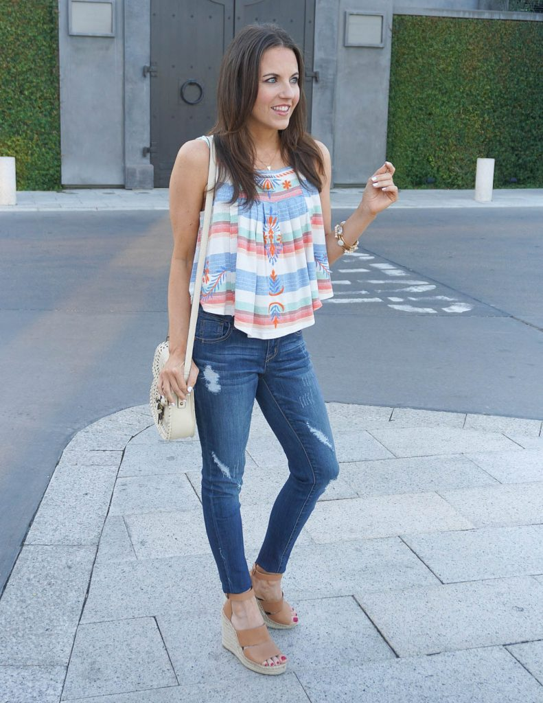Summer Outfit | Crop Top | Distressed Jeans | Houston Fashion Blogger Lady in Violet