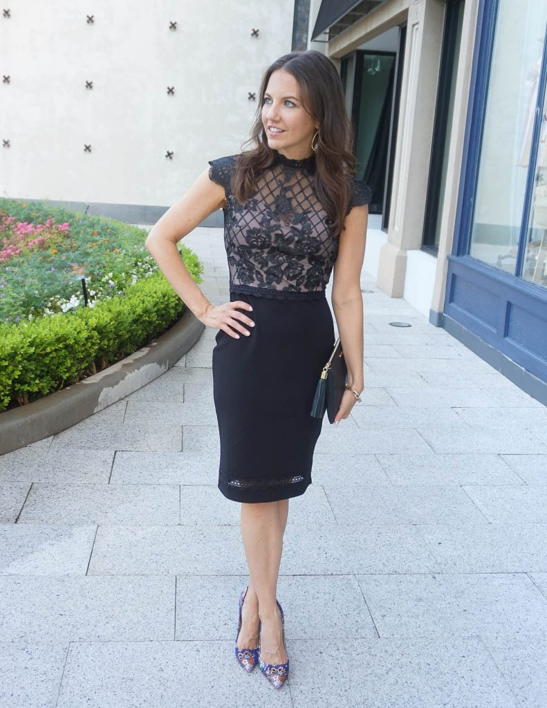 What to Wear to a Summer Wedding   Black Bodycon Dress   Houston Fashion Blogger Lady in Violet