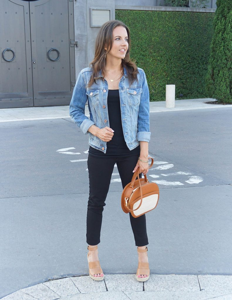 Casual Outfit | Black Jeans | Denim Jacket | Houston Fashion Blogger Lady in Violet