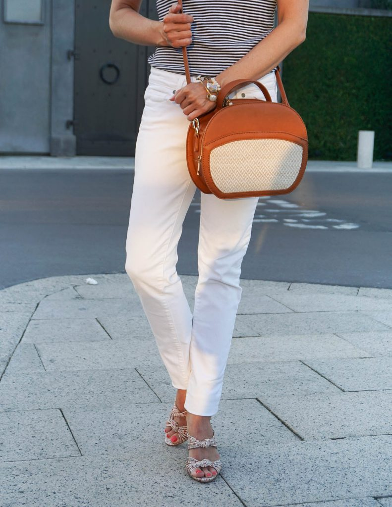 Summer Fashion | White Skinny Jeans | Floral Mule Heels | Houston Fashion Blogger Lady in Violet