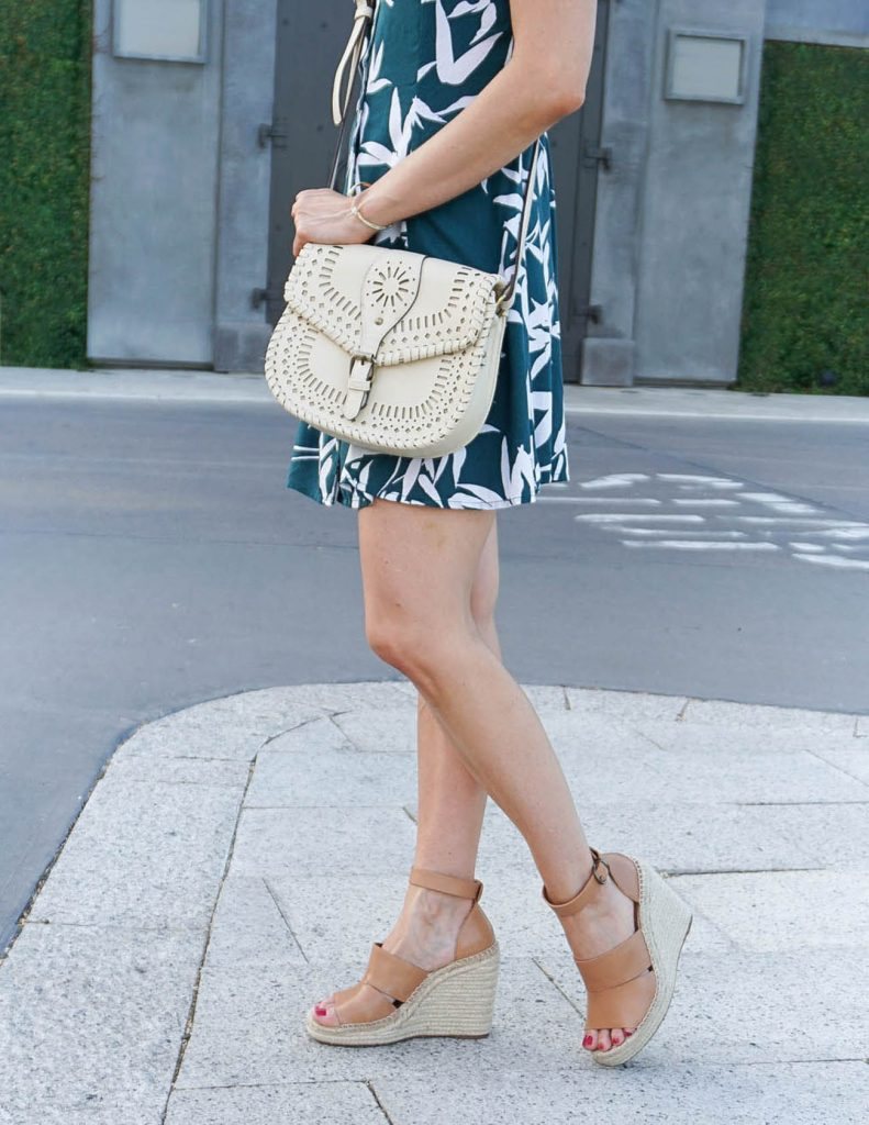 Summer Outfit | Casual Dress | Brown Wedges | Houston Fashion Blogger Lady in Violet