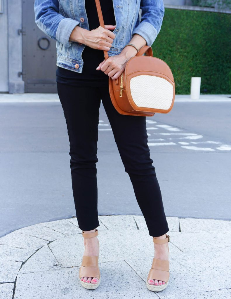 Weekend Outfit | Canteen Purse | Brown Wedges | Houston Fashion Blogger Lady in Violet