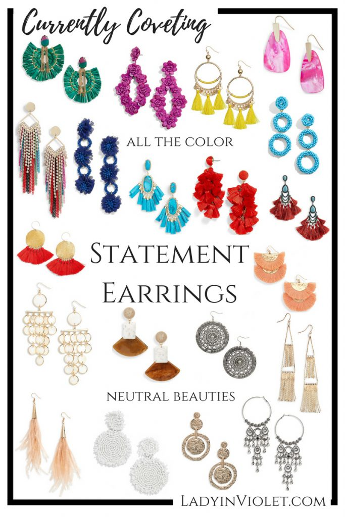 summer statement earrings | statement jewelry | Colorful earrings | Houston Fashion Blogger Lady in Violet