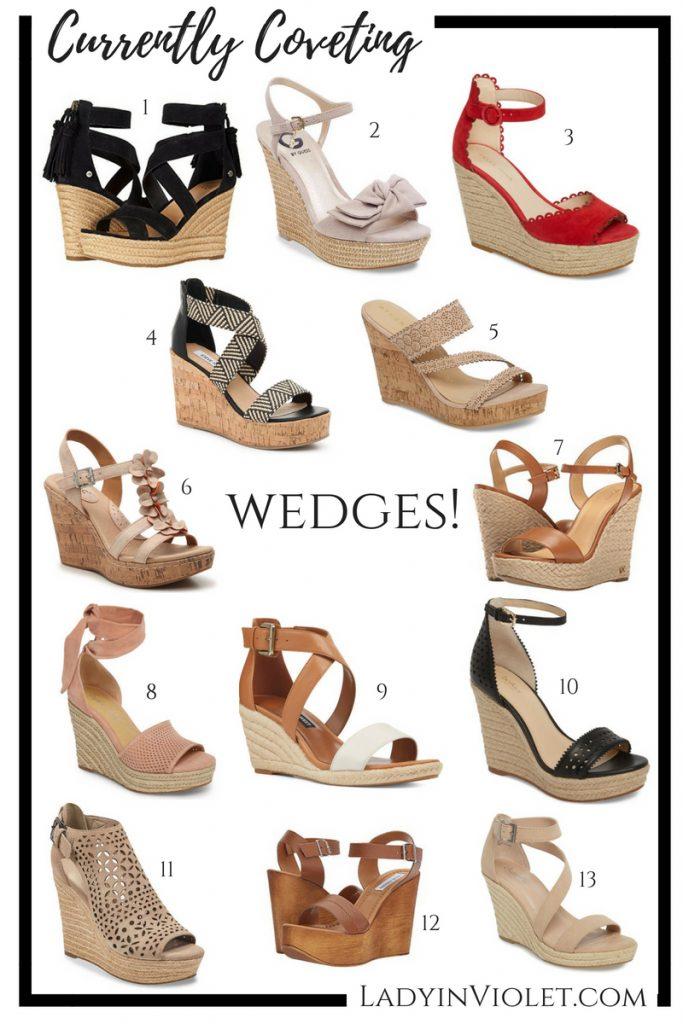 summer wedges 2018 | wedge sandals | spring sandals | wedges shoes | Houston Fashion Blogger Lady in Violet