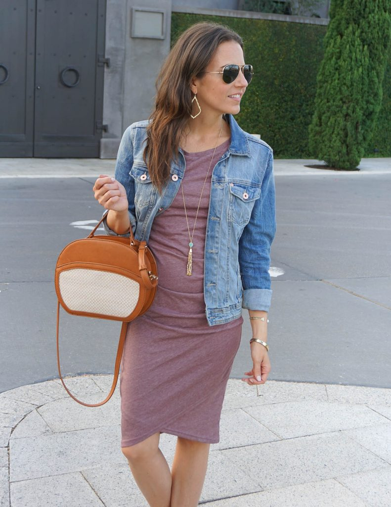 Casual Outfit | Purple Tank Dress | Canteen Purse | Houston Fashion Blogger Lady in Violet