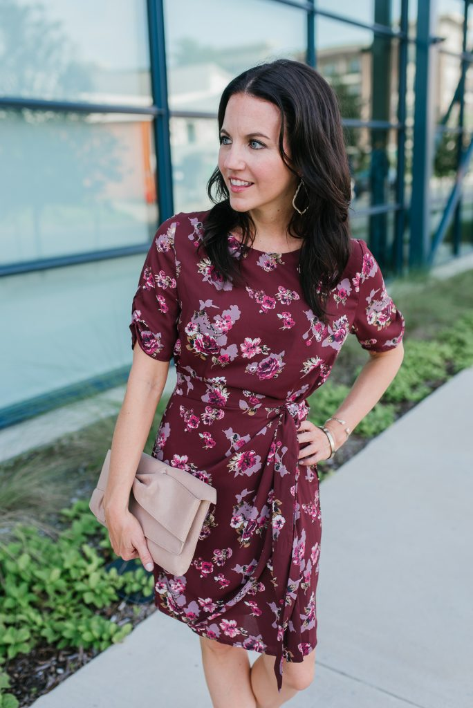summer outfit | workwear | wrap dress | Houston Fashion Blogger Lady in Violet