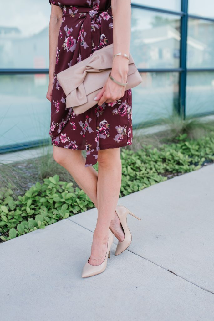 office outfit | bow clutch | workwear | Houston Fashion Blogger Lady in Violet