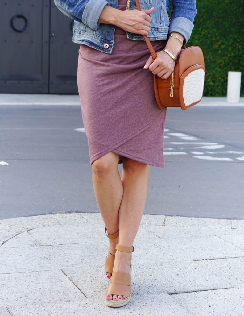 Weekend Outfit | Tank Dress | Brown Espadrille Wedges | Houston Fashion Blogger Lady in Violet