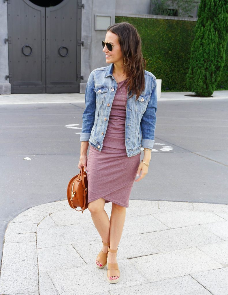 Casual Summer Outfit | Mauve Tank Dress | Brown Wedges | Houston Fashion Blogger Lady in Violet