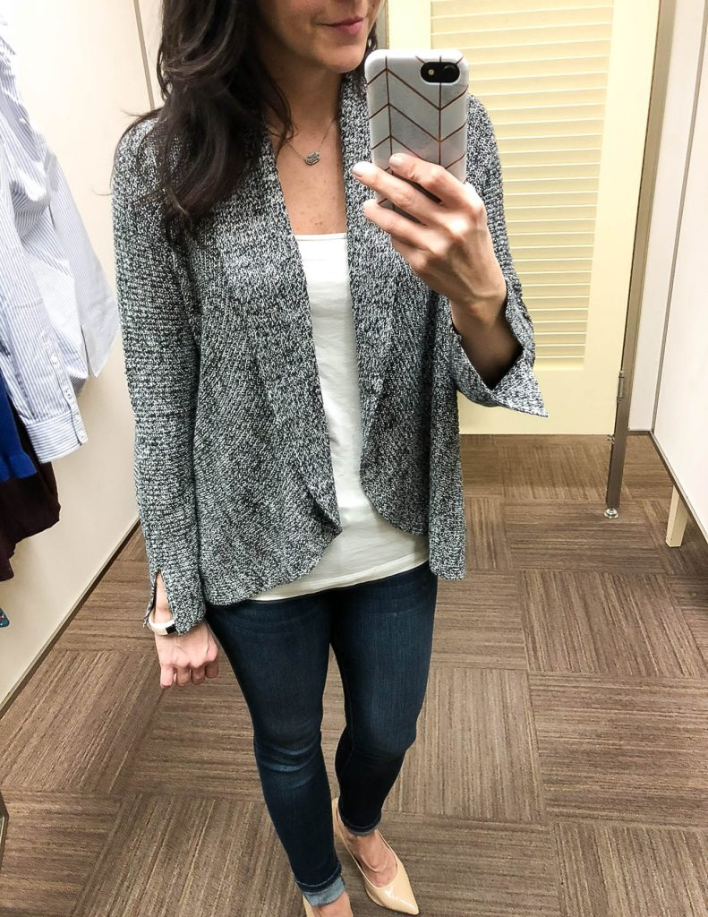 fall outfit | gray cardigan | nordstrom anniversary sale dressing room diaries | Houston Fashion Blogger Lady in Violet