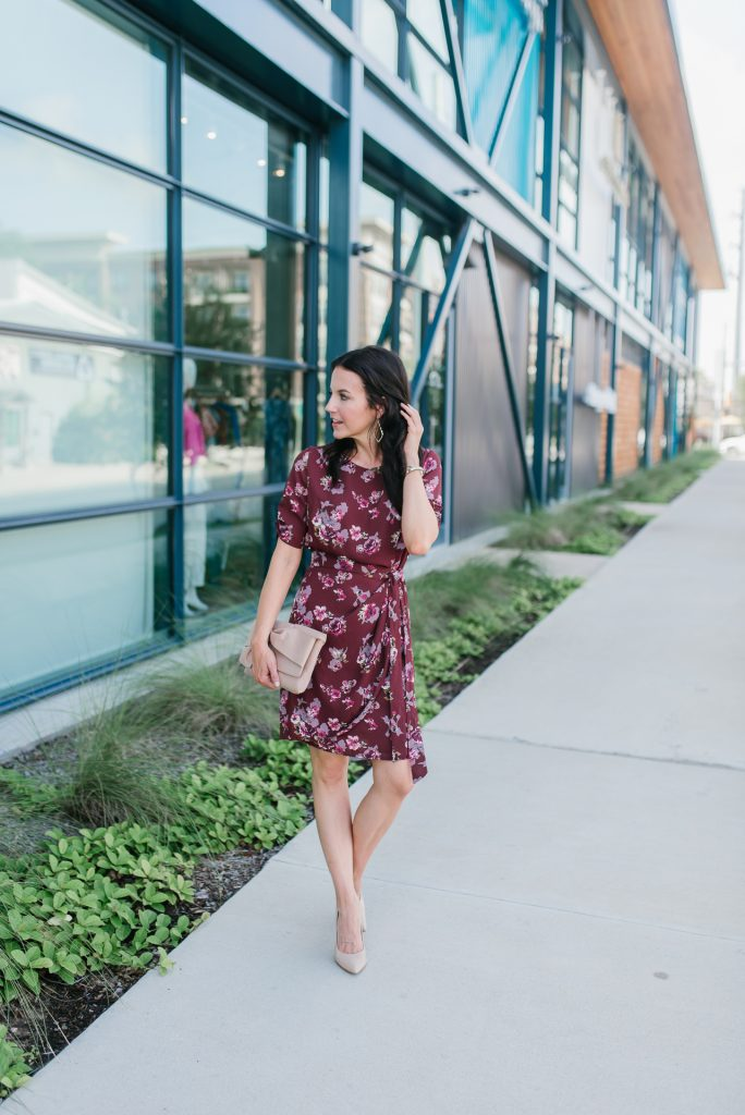 summer to fall work dress | office outfit | nordstrom anniversary sale | Houston Fashion Blogger Lady in Violet