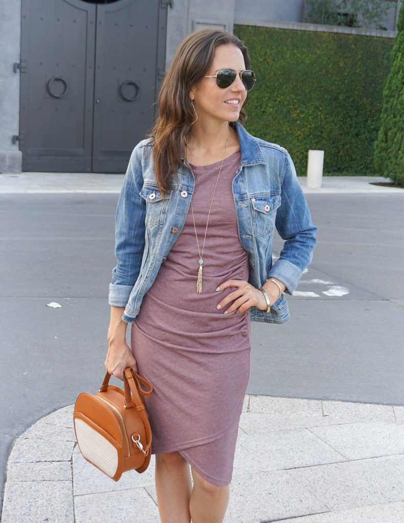 Casual Weekend Outfit | Tank Dress | Tassel Necklace | Houston Fashion Blogger Lady in Violet
