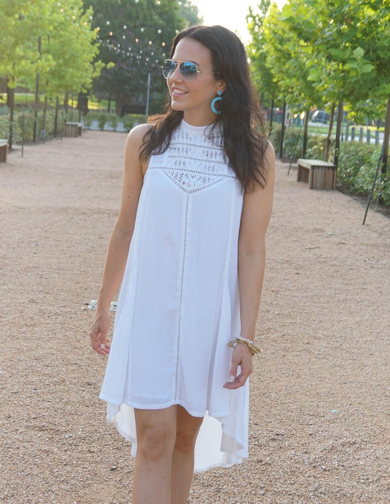 Summer Fashion | White Hi Low Dress | Casual Outfit | Houston Fashion Blogger Lady in Violet