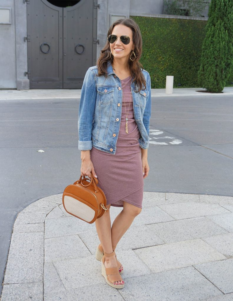 Summer Outfit | Leith Tank Dress | Denim Jacket | Houston Fashion Blogger Lady in Violet