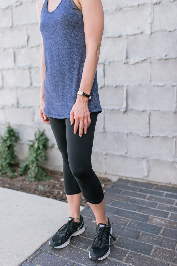 workout outfit | zella tank top | crop leggings | Houston Fashion Blogger Lady in Violet
