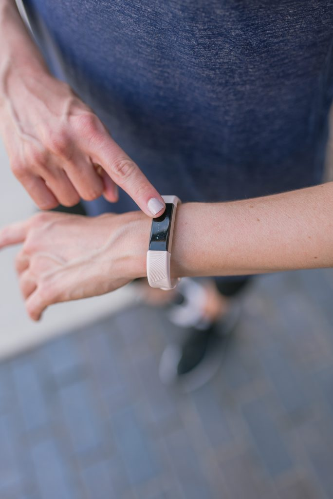 fitbit alta hr review | houston blogger | pink fitbit | Houston Fashion Blog Lady in Violet
