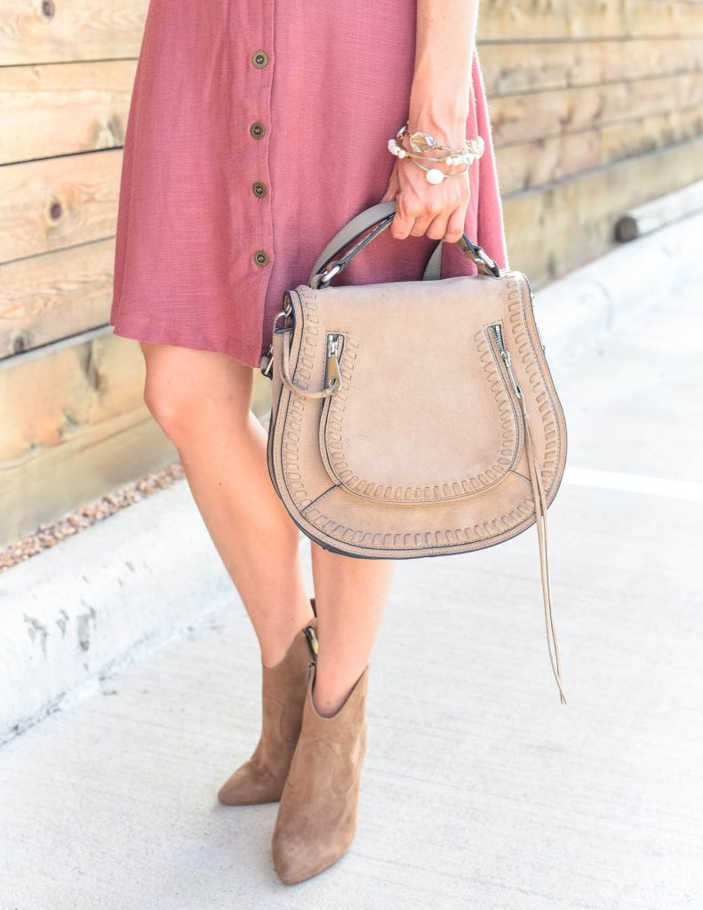 weekend outfit | brown suede booties | vanity saddle bag | Houston Fashion Blogger Lady in Violet