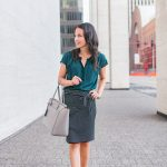 Fall Work Outfit: Striped Pencil Skirt
