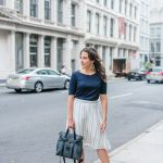 Workwear in NYC: White Midi Skirt