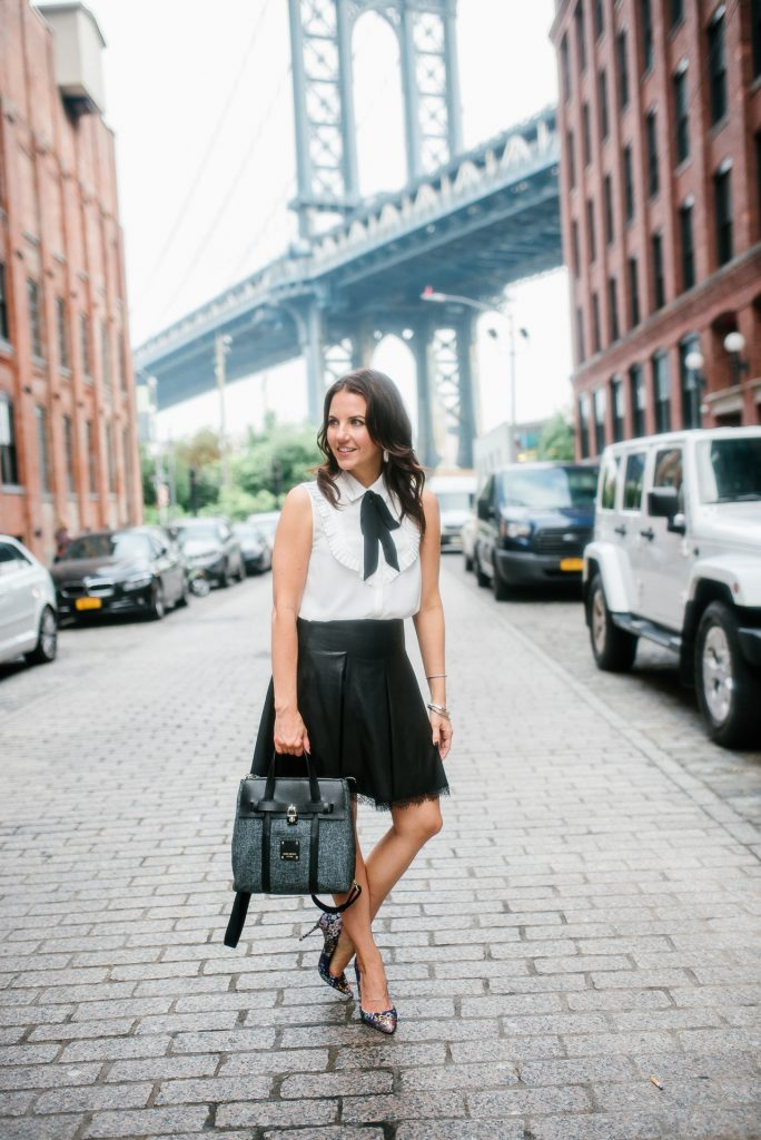 What to wear to nyfw | zara outfit | leather skirt | Houston Fashion Blogger Lady in Violet