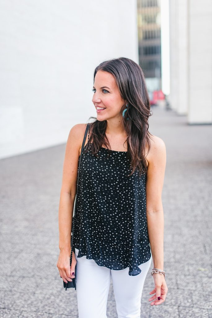 summer fashion | black cami | casual outfit | Houston Fashion Blogger Lady in Violet
