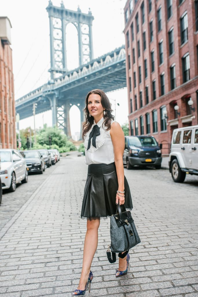 new york fashion week street style | zara outfit | steve madden heels | Houston Fashion Blogger Lady in Violet