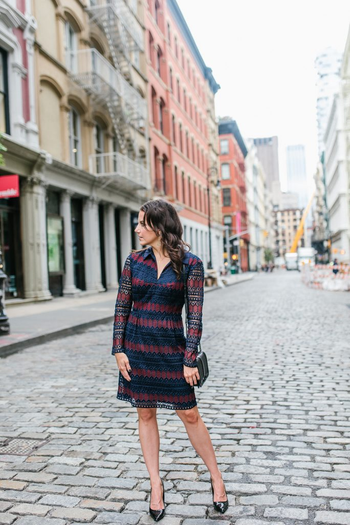 what to pack for nyfw | trina turk dress | black heels | Houston Fashion Blogger Lady in Violet